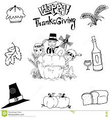 thanksgiving element doodle stock vector image 74317842