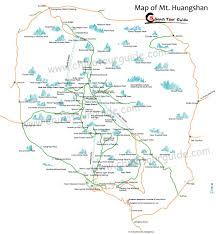 Stone Mountain Map Huangshan Maps Huangshan Mountain Tourist Maps Chinatourguide