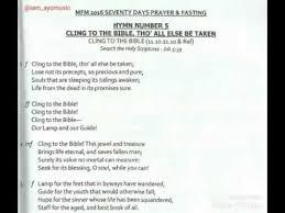 2016 70 days prayer and fasting program hymns no 5