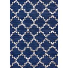 Blue Ombre Rug Distressed Blue 5 X 7 Area Rugs Rugs The Home Depot