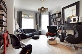 Eclectic House Decor - home design eclectic home library decor with elegant sofa and
