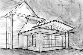 simple architectural sketches