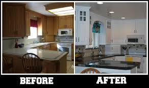 kitchen cabinets remodel before and after kitchen remodel white painted cabinet metal