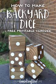 how to make easy diy giant yard dice to transform your backyard
