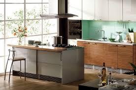 cuisine ilot bar design interieur cuisine îlot bar hotte aspirante bois design