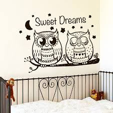 compare prices on dreams vinilos online shopping buy low price sweet dreams two cute owls wall sticker vinilos decorativos wall decal for kids rooms animal stars