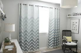 Cheap Nursery Curtains Ombre Chevron Curtains In Boys Nursery
