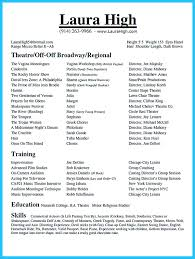 Actors Resumes Examples by What Should A Resume Have On It Resume For Your Job Application