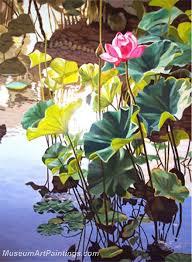 flower garden oil painting 025