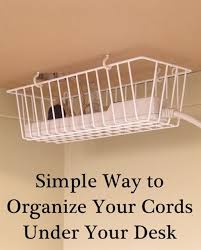 How To Organize Wires On Desk 10 Diy Cord Organizers That Will Keep Your Home Clean 2017