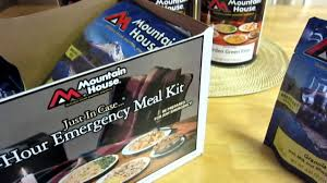 mountain house just in case 72 hour meal kit youtube