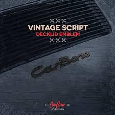 porsche martini logo rear deck lid emblem vintage script car bone pl