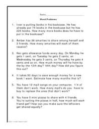 word problems addition subtraction multiplication division 4th