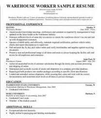 Order Selector Resume Resume Cv Cover Letter Warehouse Associate Resume Professional