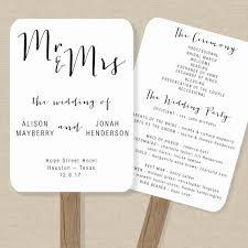 program fan template wedding fan program template rustic order of service printable
