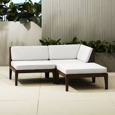 Outdoor Sofa With Chaise Modern Sectional Sofas Cb2