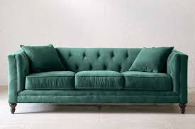 Green Sofa Bed 15 Beautiful Dark Green Sofas Apartment Therapy