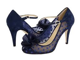 wedding shoes navy blue blue polka dot wedding shoes by kate spade
