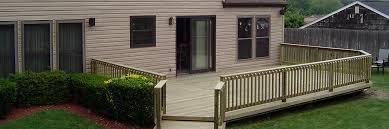 long island pressure treated wood deck builder distinctive decks