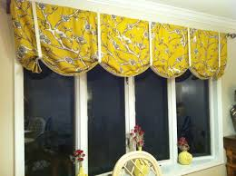 kitchen curtain ideas yellow fabric tie up curtains for dining room bay window vintage blossom fabric