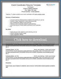 event coordinator resume event coordinator resume template