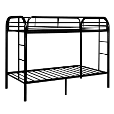 Black Bunk Beds Metal Bunk Bed Set Black At Home At Home