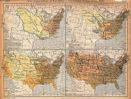 Map Of United States Of America by Expansion Of United States Territory From 1803 Historical Map
