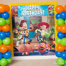 toy story activity table toy story balloon towers diy game activity ideas toy story