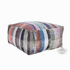Ottoman Pillow Berber Pouf Interior Decor Floor Throw Pouffe Ottoman Kilim Pillow