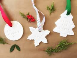 nature inspired salt dough ornaments