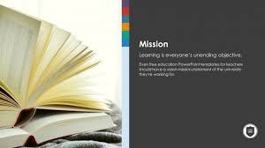 free educational our mission powerpoint slide templates slidestore