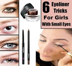 if you have small eyes can use eyeliner tricks to improve the look of eye makeup