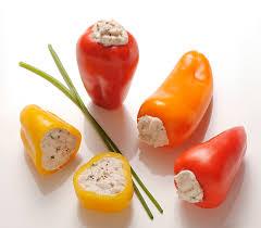 cuisiner le poivron recette mini poivrons farcis au thon apéritifs entrées froides