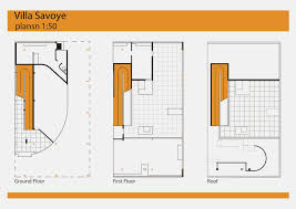 Villa Savoye Floor Plan by Arch1201 2014 Shibin Wang