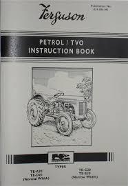 ferguson te20 operators instruction book 819096m1 farmingparts com