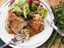 herbes cuisine easy pan roasted chicken with white wine and fines herbes