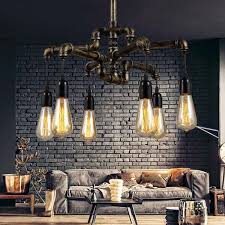 Bar Light Fixtures Aliexpress Com Buy Water Pipe Loft Style Lamp Edison Pendant