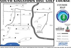 Ri Map South Kingstown Disc Golf Course Professional Disc Golf Association