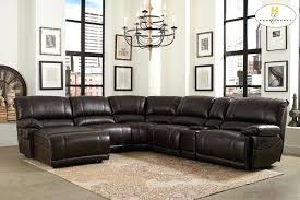 real leather sectional sofa leather sectional sofa with recliners gorgeous leather reclining