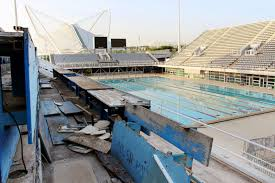 athens picture abandoned olympic venues around the globe abc news