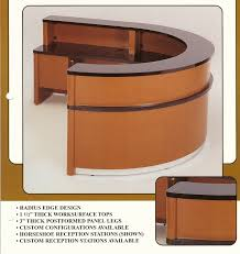 Custom Reception Desk by Horseshoe Reception Desk Laminate Indoff Reception Specialists