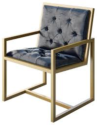 Contemporary Armchairs Cole Modern Gold Metal Contemporary Chair Contemporary