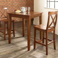 Pub Dining Room Set Home Styles Manhattan Black Pub Table Set With Stainless Steel