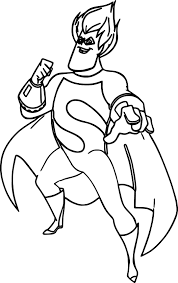 simple decoration incredibles coloring pages pictures