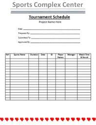 tournament schedule template is a very organized way to manage all