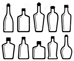 alcohol vector set isolated white glass alcohol bottles silhouette royalty free