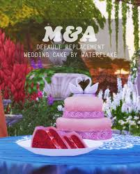wedding cake the sims 4 my sims 4 default replacement wedding cake by lovintree