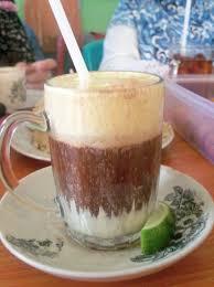 Teh Telur minuman teh telur picture of ketupat sayur onen