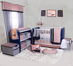 Navy And Coral Crib Bedding Bacati Noah Tribal Coral Navy 10 Pc Crib Set Including Bumper Pad