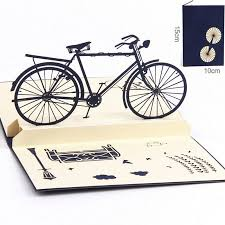 funny birthday cards coxeer handmade 3d bike pop up thank you